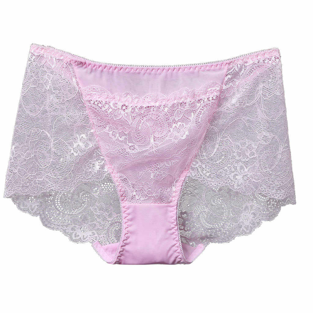 Sexy underwear High-Waisted Lace Panties See-Through Panties For Women Underpant Flower Patterned Ultra-Thin Transparent Brief