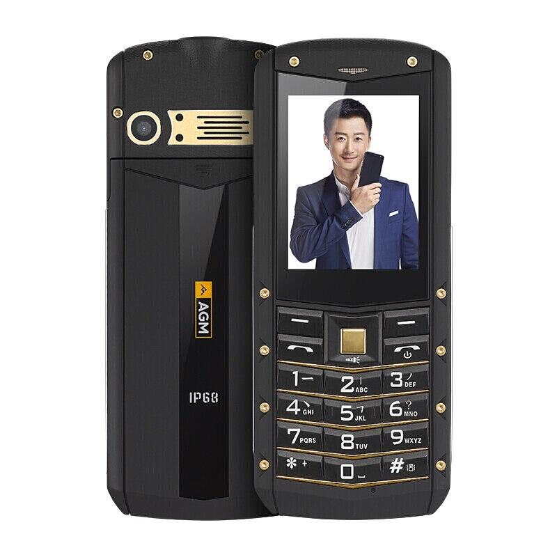 AGM M2 IP68 Robuste Étanche Antichoc Téléphone GSM Double Carte SIM Bluetooth FM Vieil homme Étudiant Enfant D'affaires Russe Clavier