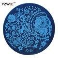 Yzwle 1 unids placa de acero inoxidable imagen placas estampación sello DIY plantilla de manicura esmalte de uñas herramientas ( JQ-30 )
