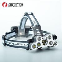High Power Led Headlamp XML T6 9 Leds Headlight USB 18650 Battery Head Lamp Lanterns hunting Fishing Light Torch