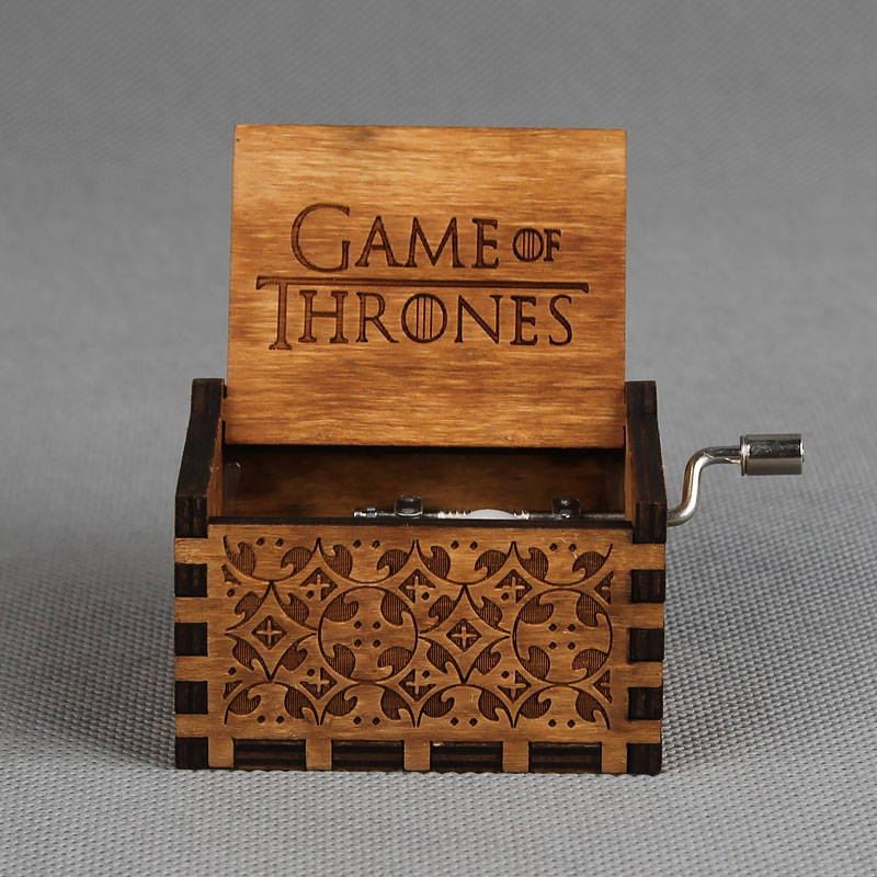 Harry Potter Music Box Hand Crank Game of Thrones Music Box for Christmas Day Gifts Game of Thrones Theme Free Gifts Bracelet