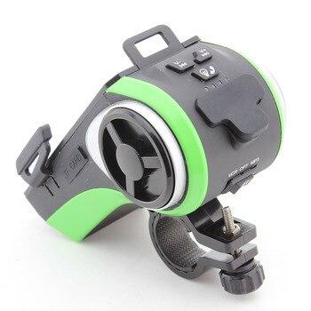 динамик Bluetooth для велосипеда   Bluetooth динамик, умный водонепроницаемый динамик, велосипедный музыкальный плеер, Mp3-плеер, светодиодный фонарик, внешний аккумулятор, 4400 мАч, ...