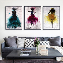 GoldLife Abstract Dancer Girl Canvas Art Prints Modern Wall Paintings Watercolor Posters And For Living  Room