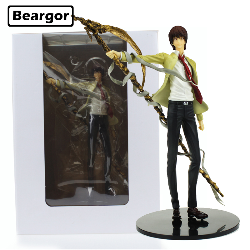Free Shipping 10 inch Death Note L Yagami Light Killer Kira Boxed 26cm PVC Anime Action Figure Collection Model Doll Toys Gift free shipping 10 pa kai super hero black panther t challa boxed 26cm pvc action figure collection model doll toy gift