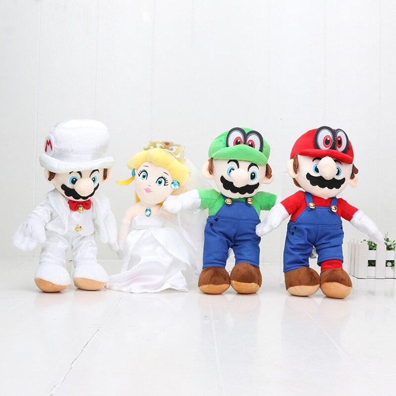 8 unids/set 25 cm Super Mario Bros Mario Luigi melocotón Cappy el vestido de boda novio disfraz Mario peluche muñeca-in Cine y TV from Juguetes y pasatiempos    2