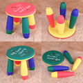Mini Mesa Criatividade Crianças Banquinho Banquinho Banco De Plástico Curto Bebê Cadeira de Assento de Bebê A Aprender