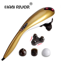 Young Dolphins Massage Stick Electric Massager Beats Hammer Vibration Massage Back Neck Shoulder Waist Massage Equipment