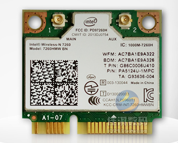 SSEA New WIFI Bluetooth4.0 Card for INTEL Dual Band Wireless-AC 7260 7260HMW 802.11ac for ACER/Samsung /Toshiba /Asus /DELL