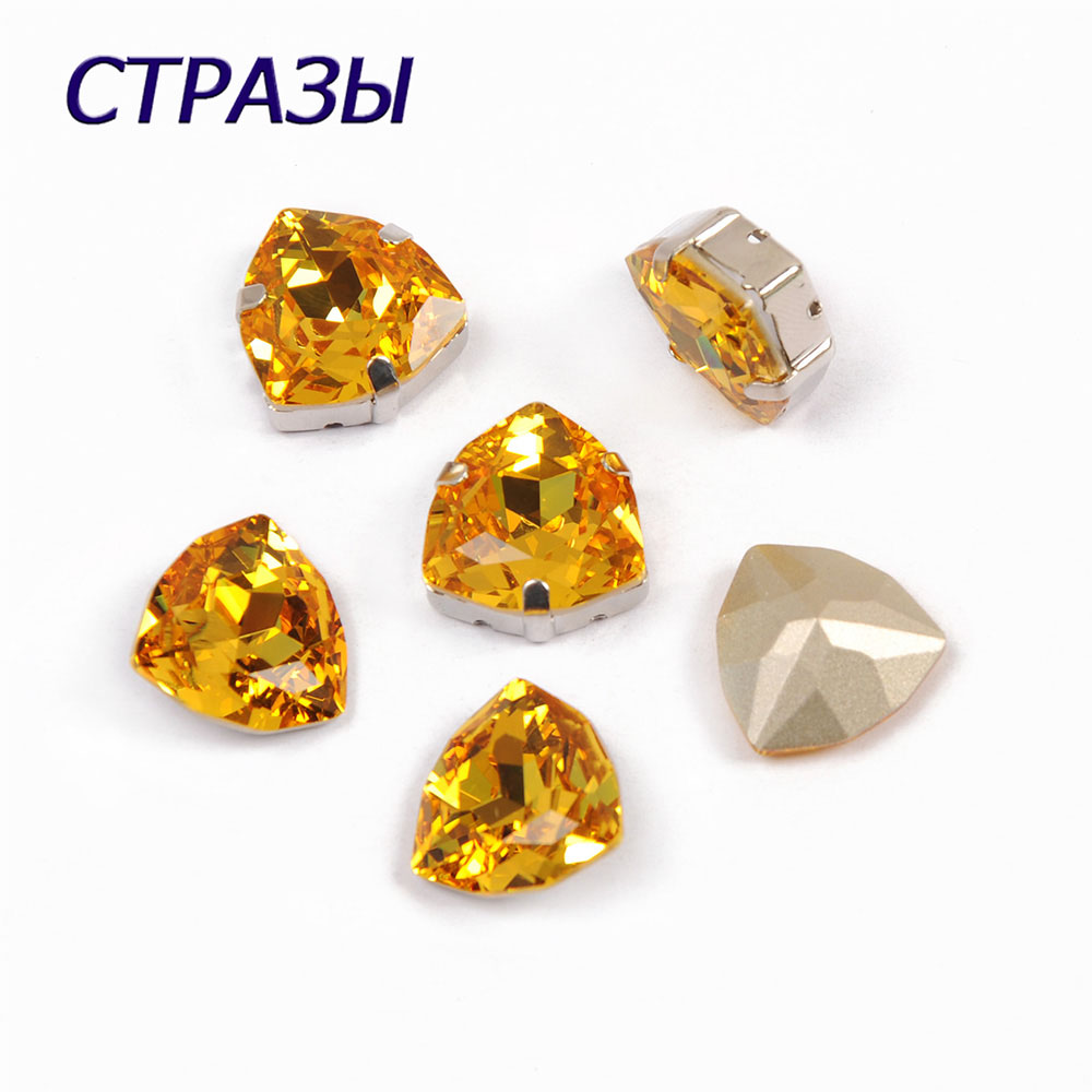 CTPA3bI 4706 Trilliant  Charming Bedels Fancy Beads 226 Light Golden Rhinestones Crystal Stone For Jewelry making DIY Garment