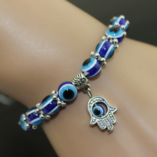 Hamsa Fatima Hand Muslim Turkish Blue Evil Eye Bracelet Handmade Beads Bangles For Women