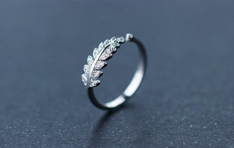 """""""Shuangshuo"""" nauji atvykimo sidabro žiedai moterims mergaitėms - Mados papuošalai - Nuotrauka 3"""