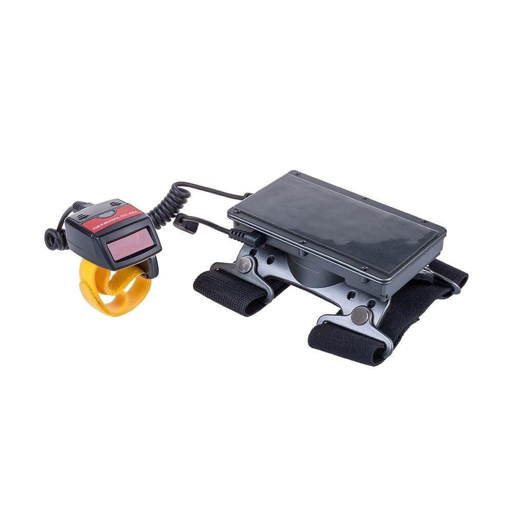 Generalscan GS WT1000 1D Laser Bluetooth Filaire Anneau Doigt Barcode Scanner et Portable Brassard Terminal de Données pour Android (GS07)