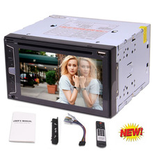 "Eincar Double Din 6.2"" Car Radio Player Vehicle Auto Car Stereo Head Unit In Dash Bluetooth DVD/CD Player 1080P Video Play USB"
