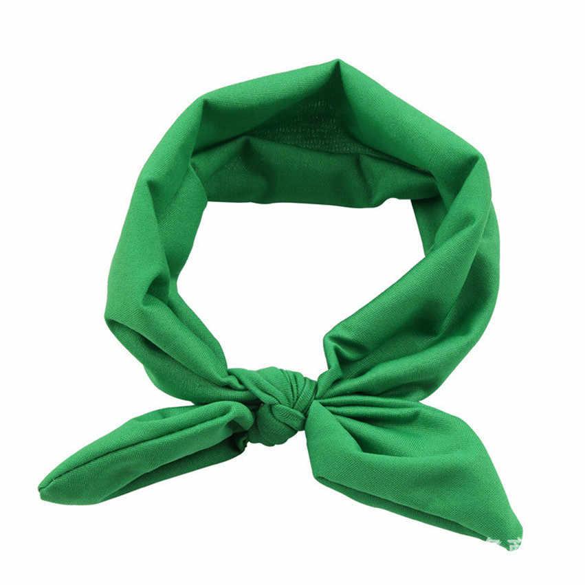 แฟชั่น 2019 ร้อนยี่ห้อเด็กผู้หญิงกระต่าย Bow Ear Hairband Turban Knot Head Wraps Dorpship 170822 ##418