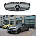 For Mercedes A45 AMG ABS Sliver Front Grille With Emblem for Benz W176 A200 A180 A260 A45 2013 2014 2015