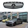 Para Mercedes A45 AMG ABS Sliver Grade Dianteira Com Emblema para Benz W176 A180 A200 A260 A45 2013 2014 2015