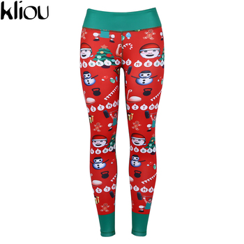 New Christmas Leggings - Fashion Ankle-Length Leggings - Fitness Leggings with Santa Claus - Hot Sale on Fashion Pants 1