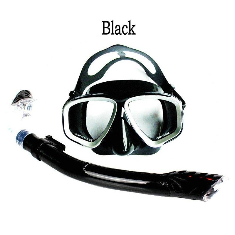 64e7e0013f170 Alta Qualidade Adulto homem mulher Silicone Máscara de Mergulho Óculos De  Natação E Natação Tubo de Respiração Seca Completa Snorkel Mergulho