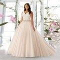 Berydress 2016 Весна Прибытия Новый Плюс Размер Vestidos V-образным Вырезом Свадебные Платья Из Органзы Robe De Mariage Горячие Онлайн
