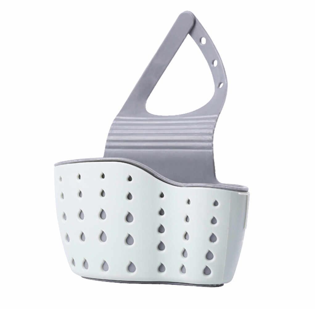 Regolabile Mensola Lavandino Sapone Spugna Rack di Scarico del Bagno di Stoccaggio Titolare Cucina Organizzatore Lavello da cucina Cestello di Lavaggio Accessori