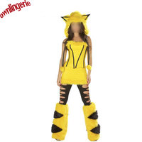 Sexy Woman Movie Cosplay Costumes Product Type and pikachu Character Type pokemon costume cartoon halloween party costume