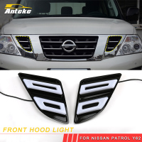 ANTEKE Auto Car styling front hood light grill light Exterior Accessories For Nissan Patrol Y62