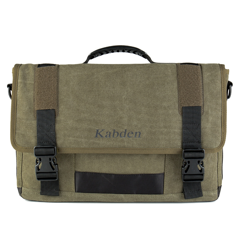 Mode 17.3 pouces pochette d'ordinateur écologique en toile de coton Messenger sac hommes sac à bandoulière