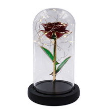 24K Gold-plated Luxury Gift 24k True Rose Natural and LED Box for Lovers