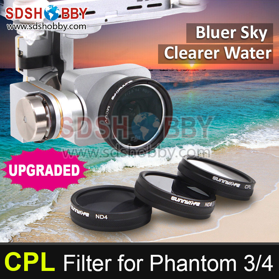 Sunnylife  DJI Phantom 3/4 Accessory CPL Filter Circular Polarizer Filter for Phantom 4/3 Professional & Advanced & Standard