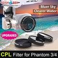 Sunnylife lente de la cámara filtro cpl filtro polarizador circular para dji phantom 4/3 profesional y avanzada y estándar
