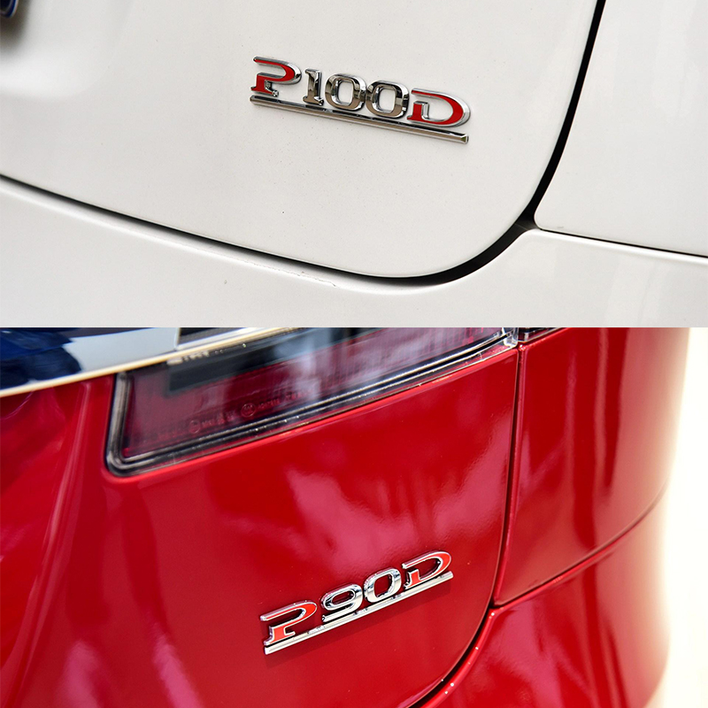 P100D P100 D Rear Bootlid Tailgate Emblem Badge Logo