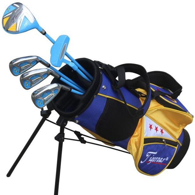 17baed46de1d Tigeroar brand. junior kids children LEFT handed golf clubs half set with  bag. golf clubs kids left hand left handed golf clubs