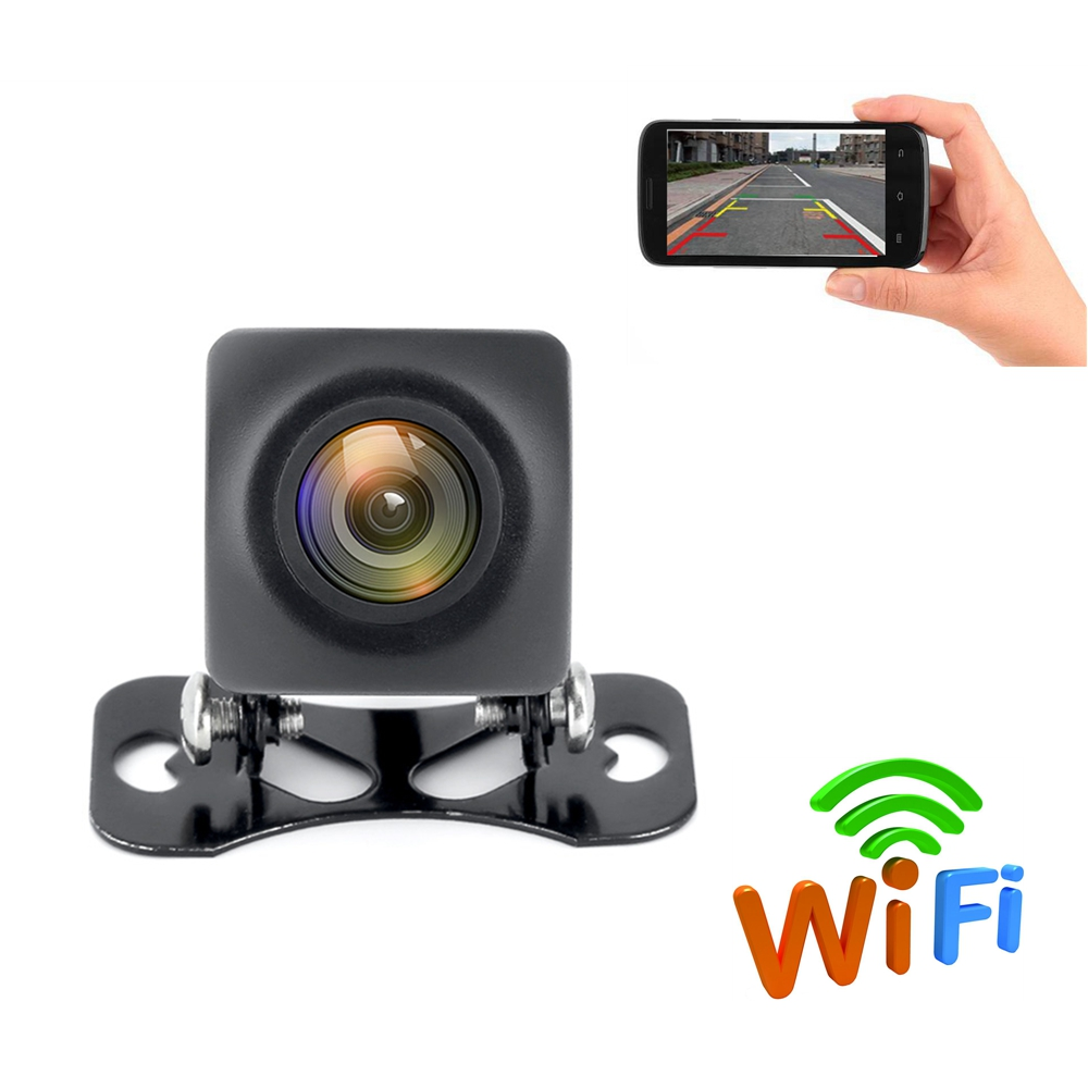 $26.39 Wireless Car Backup Wifi Rear View Camera Rearing Camera 150 Degree With Waterproof Function HD Night Vision For iPhone Android