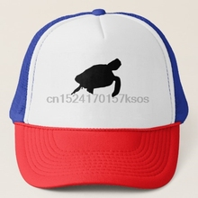 7cc024f4b4b Print Custom Baseball Cap Hip Hop Peaked Cap Sea Turtle Silhouette Trucker  Hat(China)