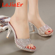Hot Sales 2 colors SIZE 35-40 New sexy Women Sandals Rhinestone bow Decorated Ladies Sandal Women slippers Fashion Shoes D688