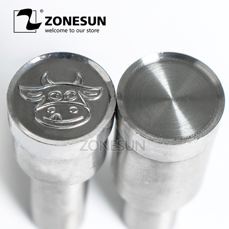 ZONESUN Cow logo Stamp die mold sugar Punching Set Stamp milk tablet die sugar milk slice candy press equipment TDP 0/1.5/3 cow milk of sodium carbonate decahydrate cosme cow 430ml