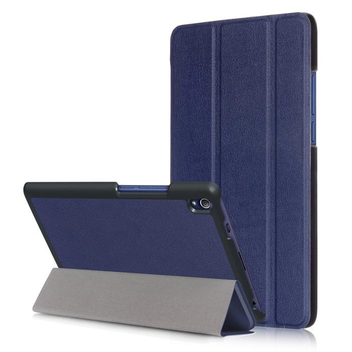 цена на PU Leather Cover Case for Lenovo Tab 3 8 Plus TB-8703 TB-8703F TB-8703N (TAB3 8 Plus) 8 Inch Tablet + 2 Pcs Screen Protector