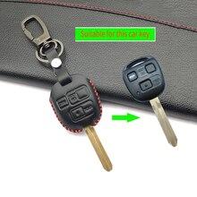 Latest Genuine Leather Car Remote Control Car Key Chain Case Cover For Toyota Tarago RAV4 Corolla