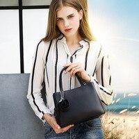 CHARMIYI 2018 Spring New Genuine Leather Women Handbags Design Flower Pendant Messenger Bags For Women Lady