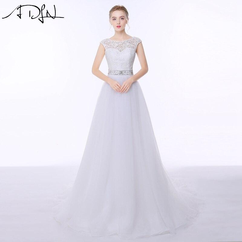 ADLN Stock Encaje Vestidos de Novia 2017 Vestido de noiva A-line de Tulle de la