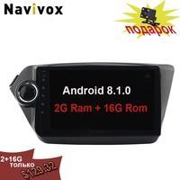Navivox dvd Android 8,1 gps навигации 2G + 16G для KIA RIO 3 K2 аксессуары камеры 2012 2015 Рио нет DVD