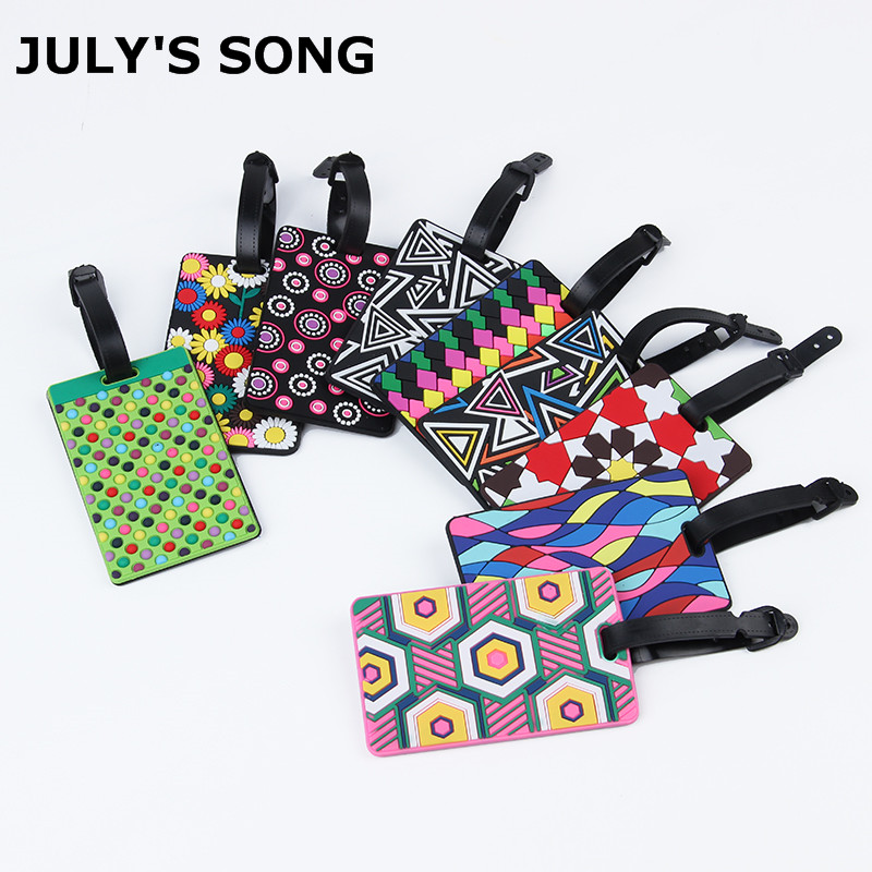 JULY'S SONG Hot Sale Suitcase Luggage Tags Flower Design ID Tag Address Holder Identifier Luggage Label Travel Accessories