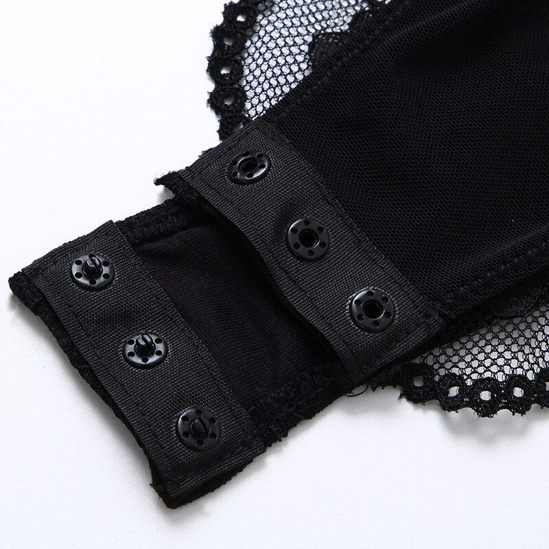 Transparent Stop118 Bodysuit Femme