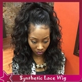 Synthetic Wigs For Black Women Short Curly Perruque Heat Resistant Synthetic Lace Front Wig With Baby Hair 3 Inch Middle Part