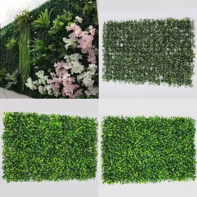garden mat. artificial boxwood hedge fake vertical garden green wall ivy mat fence 60x40cm