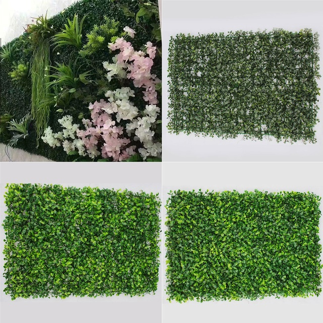 Cerco De Madera Artificial Para Jardin Vertical Falso Pared Verde
