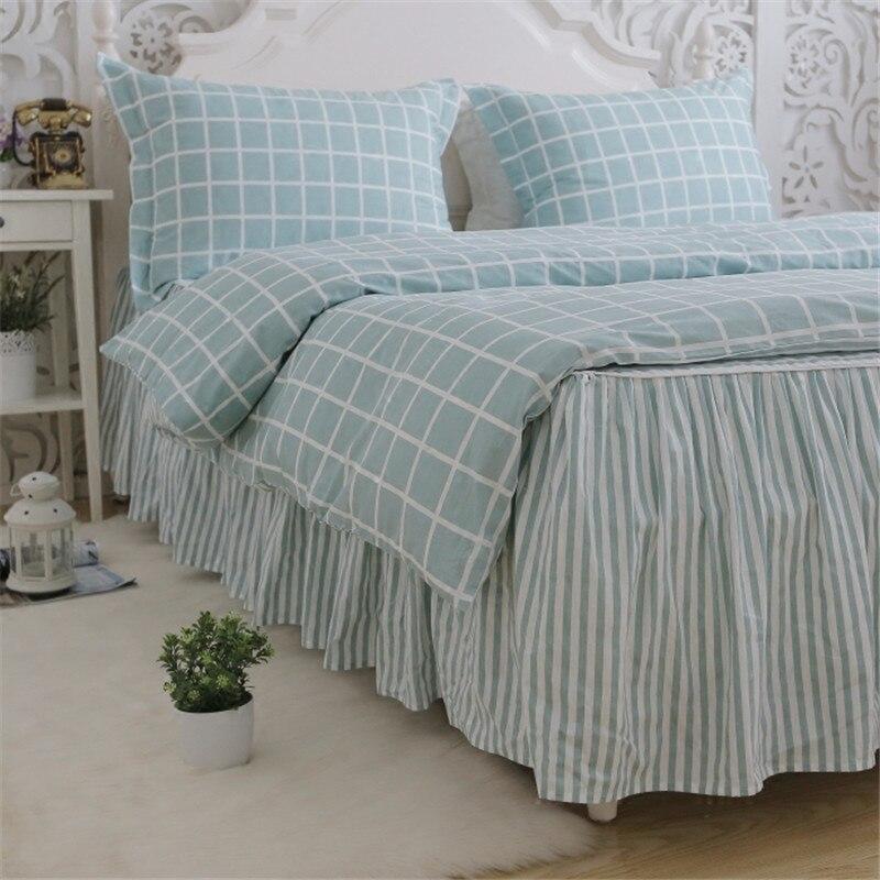 Plaid classico set di biancheria da letto luce bel plaid copripiumino casa letto tessile lenzuolo della banda della principessa gonna letto copriletto lino