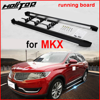 foot step board running board side bar for Lincoln MKX 2014 2017 year,supplied by ISO9001 factory in china, promotion price