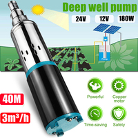 40m Solar Water Pump 12/24V Deep Well Pump DC Screw Submersible Pump Irrigation Garden Home Agricultural