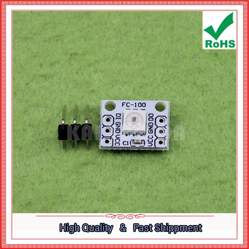 Free Shipping 5pcs 1 bit 5050 full color LED water lamp module RGB electronic building blocks full color light bulb (D3B5)